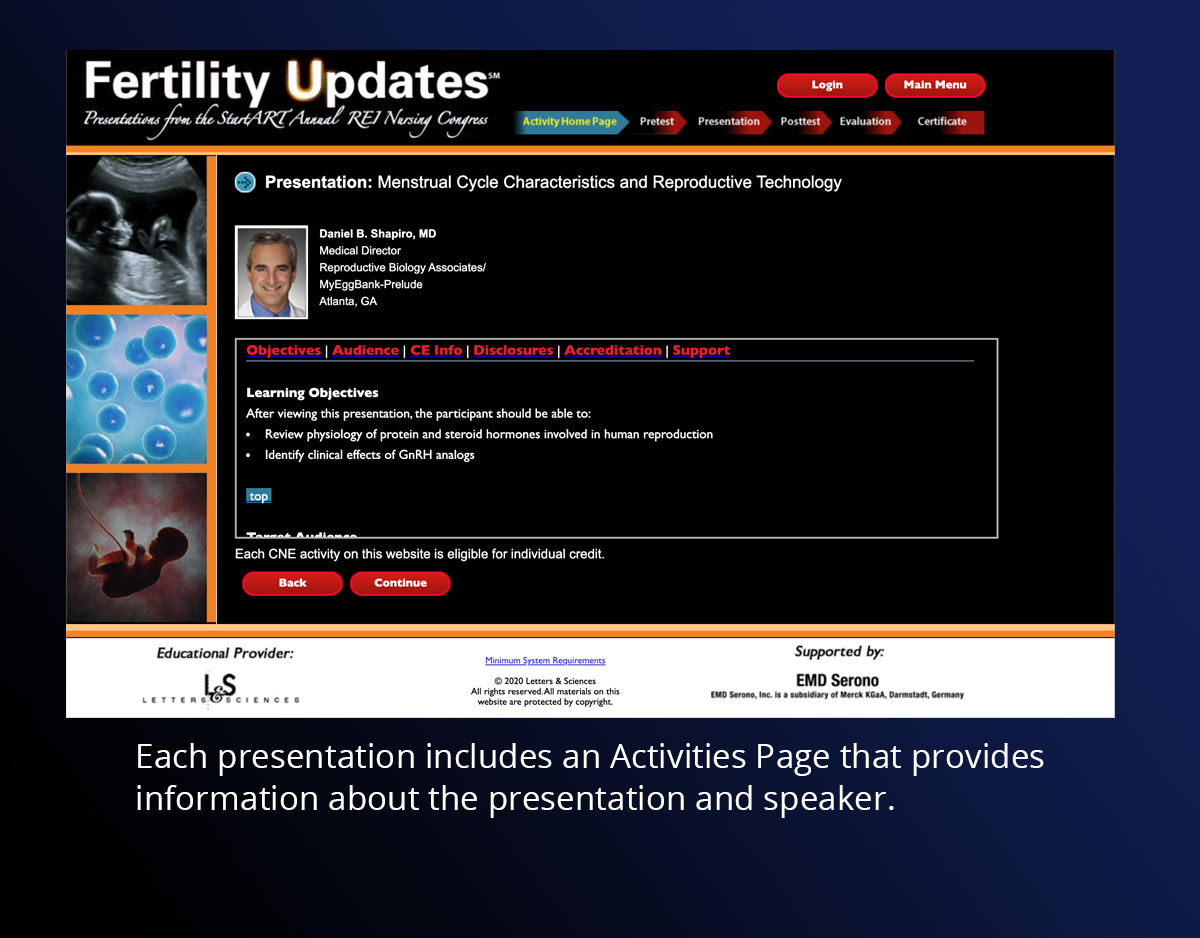Fertility Updates Activities Page